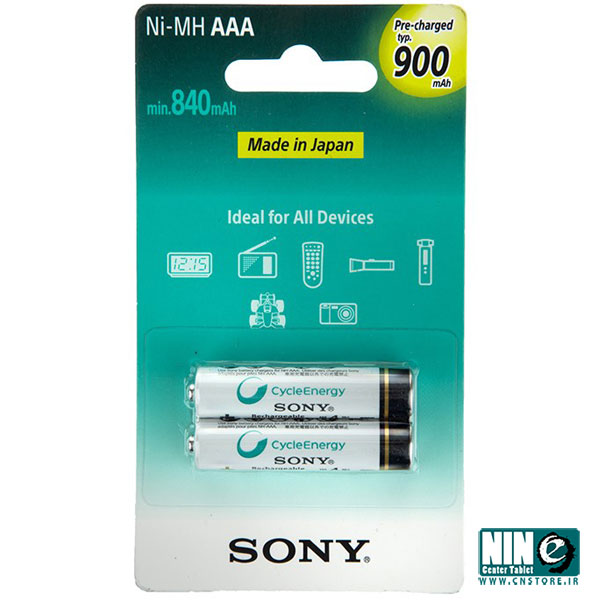 سونی/باتری، شارژر و متعلقات/Sony NH-AAA-B2GN Rechargeable AAA Battery - Pack of 2