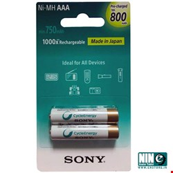 سونی/باتری، شارژر و متعلقات/Sony NH-AAA-B2KN Rechargeable AAA Battery - Pack of 2
