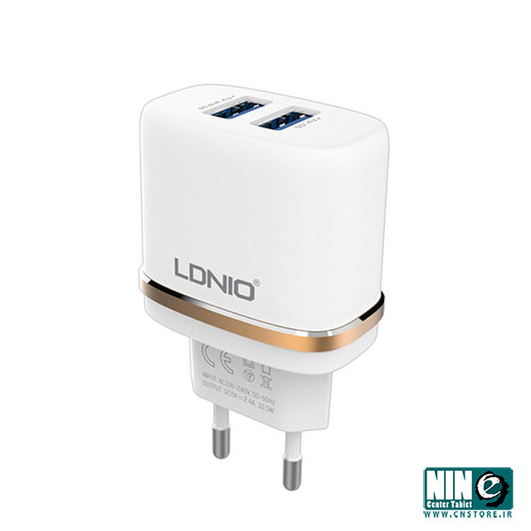 الدینیو/شارژر تبلت و موبایل/LDNIO DL-AC52 2.4A Dual USB Charger With microUSB Cable