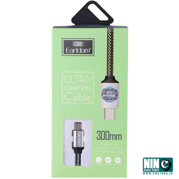 ارلدام/کابل شارژ/Earldom EC-013C USB To Type-c Cable 30cm