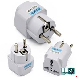 متفرقه/مبدل/3Prong to 2Prong Outlet Wall Plug Adapter