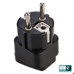 بافو/مبدل/Bafo 3Prong to 2Prong TA-EU01-V1 Outlet Wall Plug Adapter